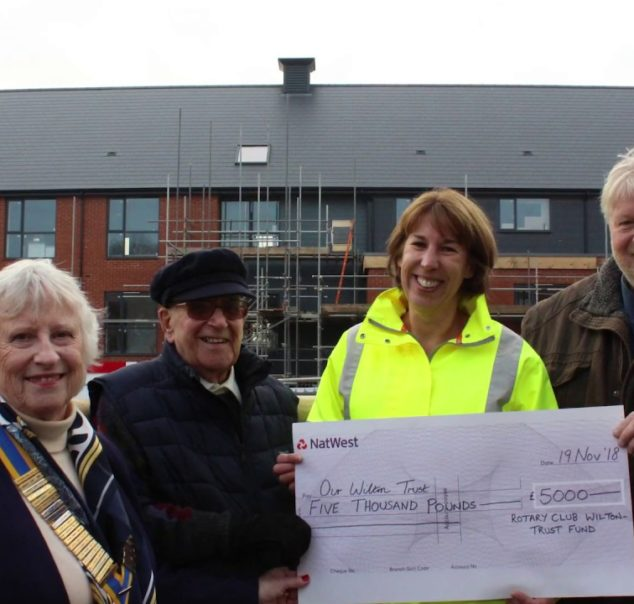 Wilton Rotary donates £5000 to help equip an accessible apartment